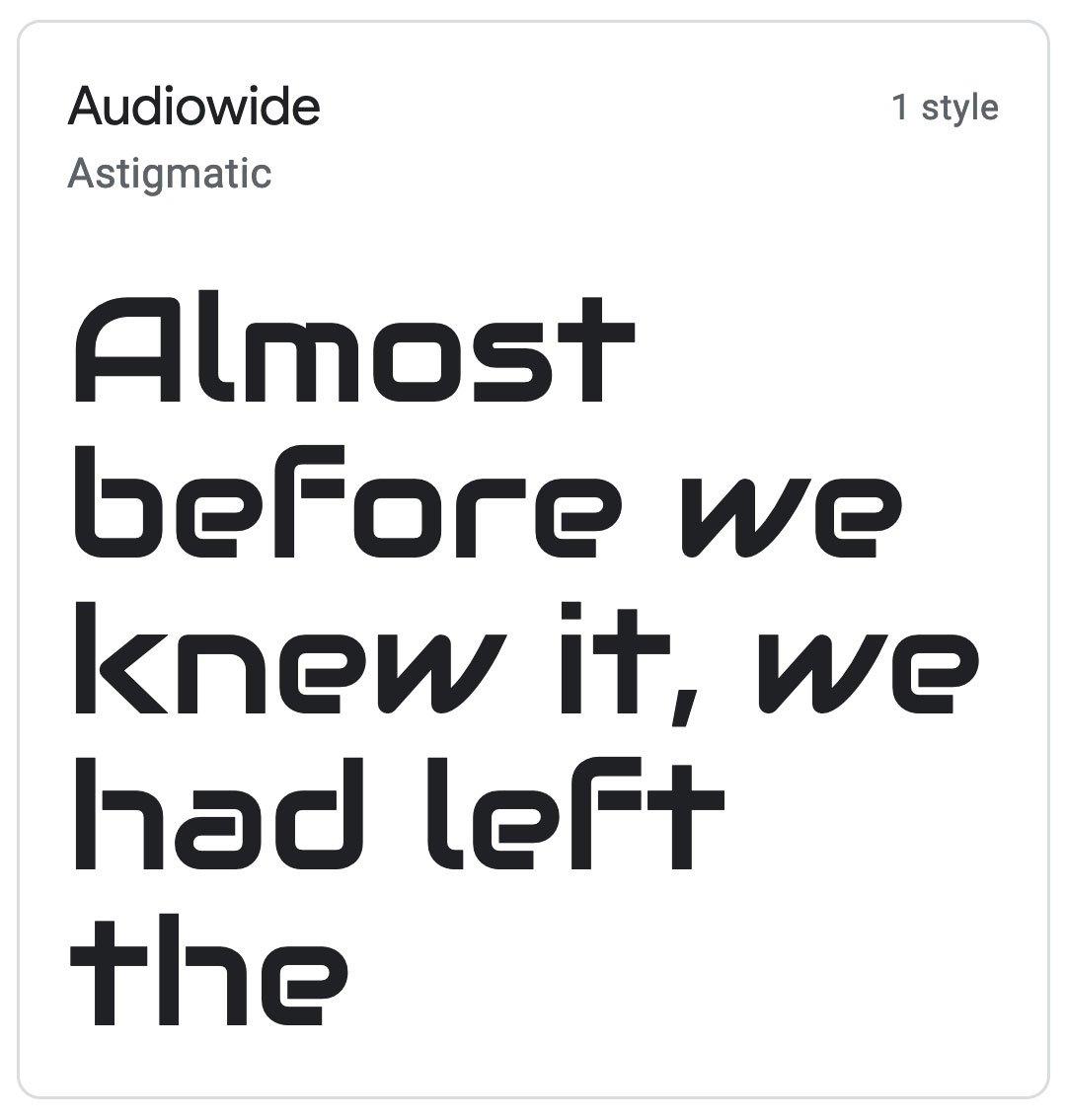 Enfold Fonts Audiowide