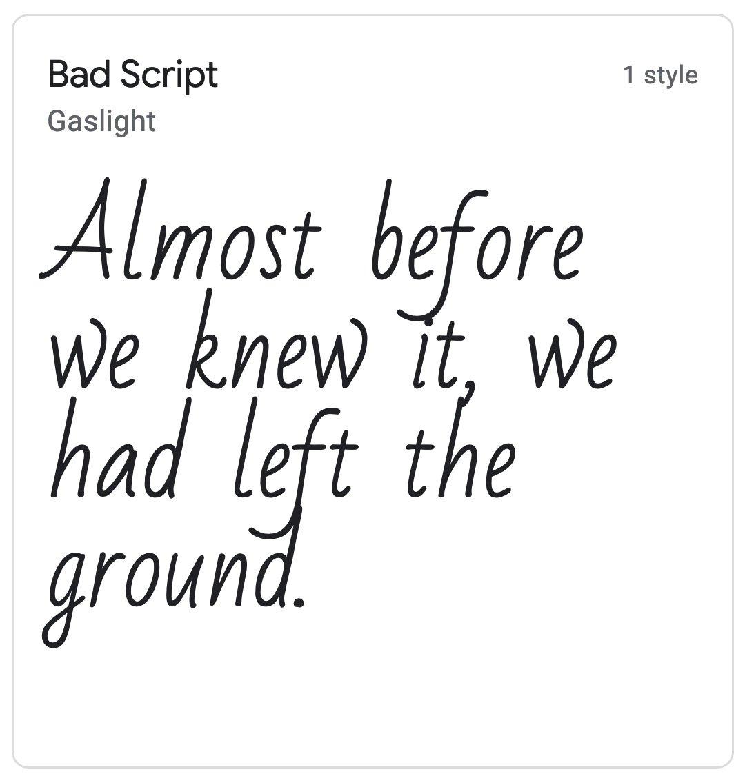 Enfold Fonts Bad Script
