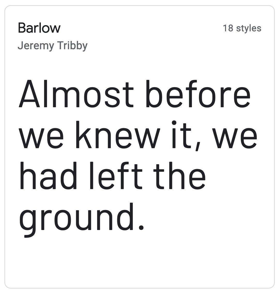 Enfold Fonts Barlow