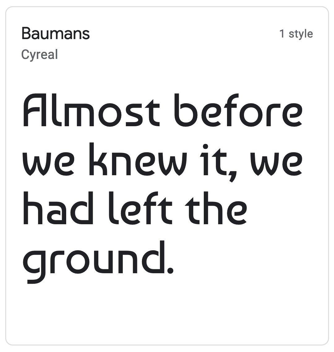 Enfold Fonts Baumans