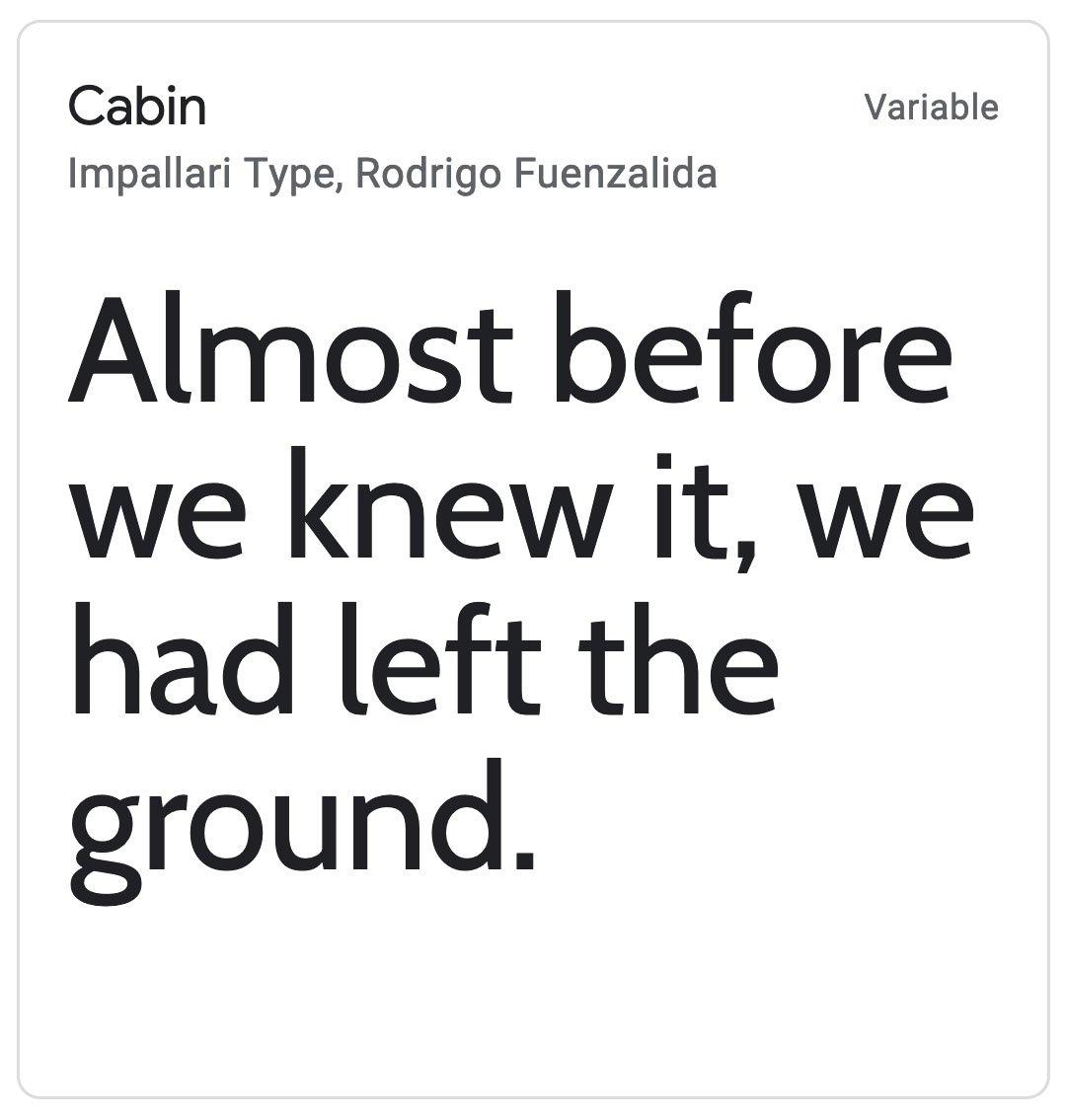 Enfold Fonts Cabin