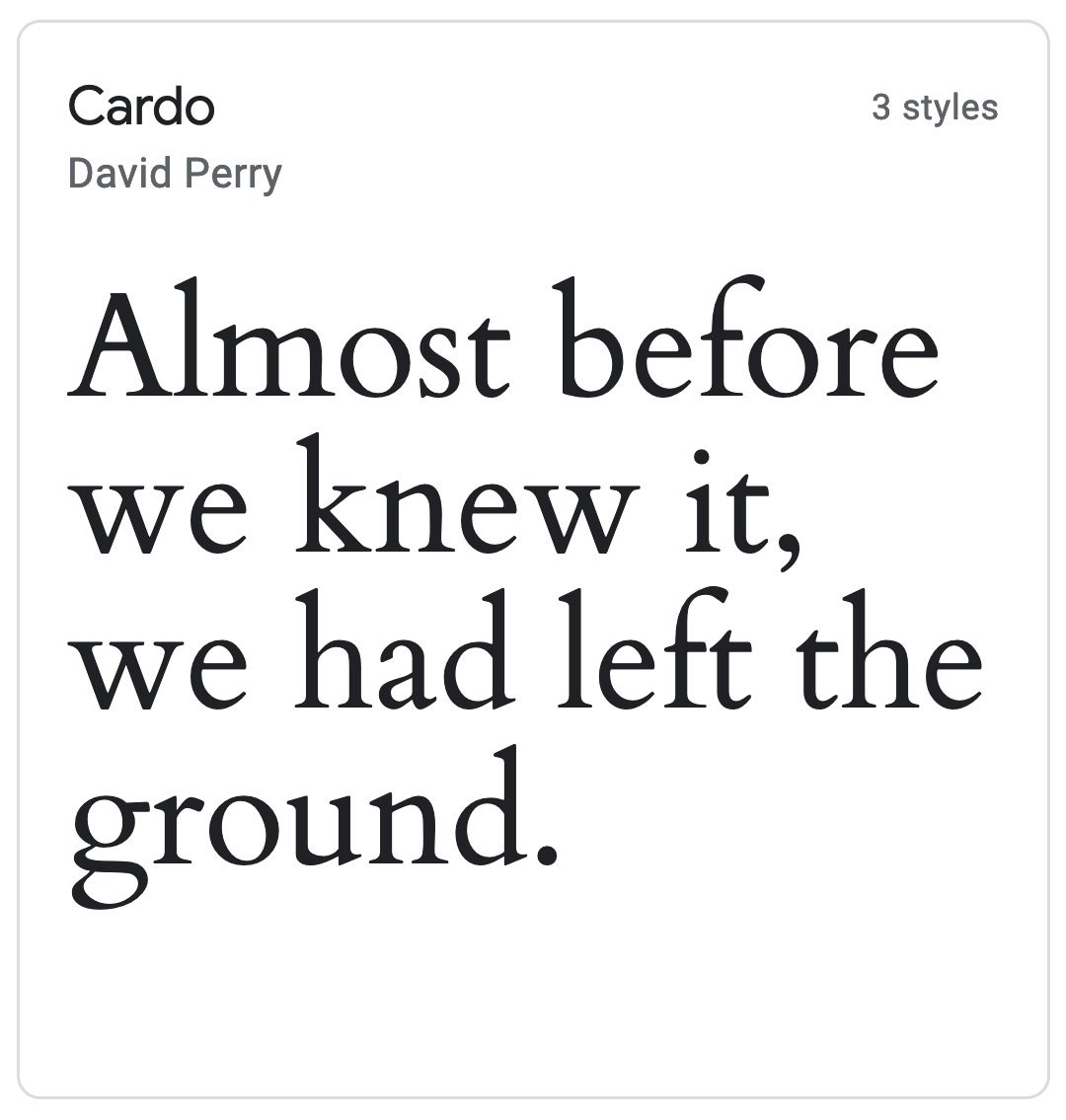Enfold Fonts Cardo