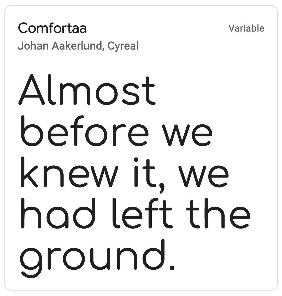 Enfold Fonts Comfortaa