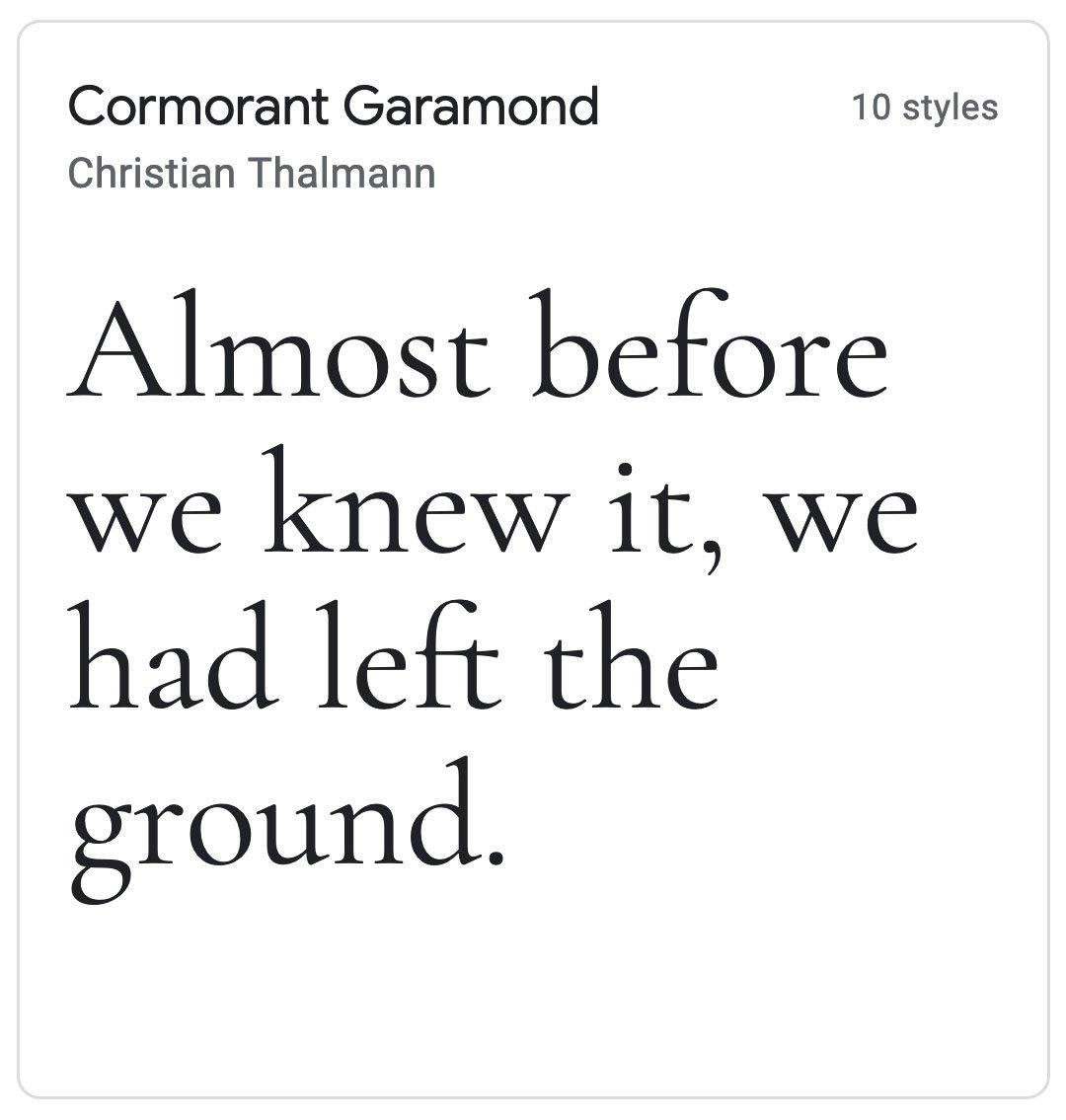 Enfold Fonts Cormorant Garamond