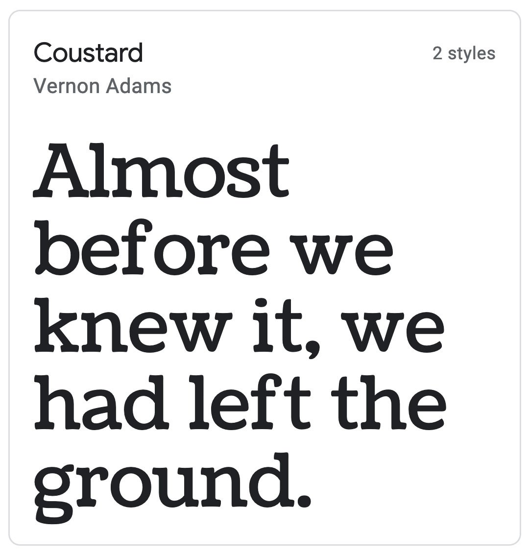 Enfold Fonts Coustard