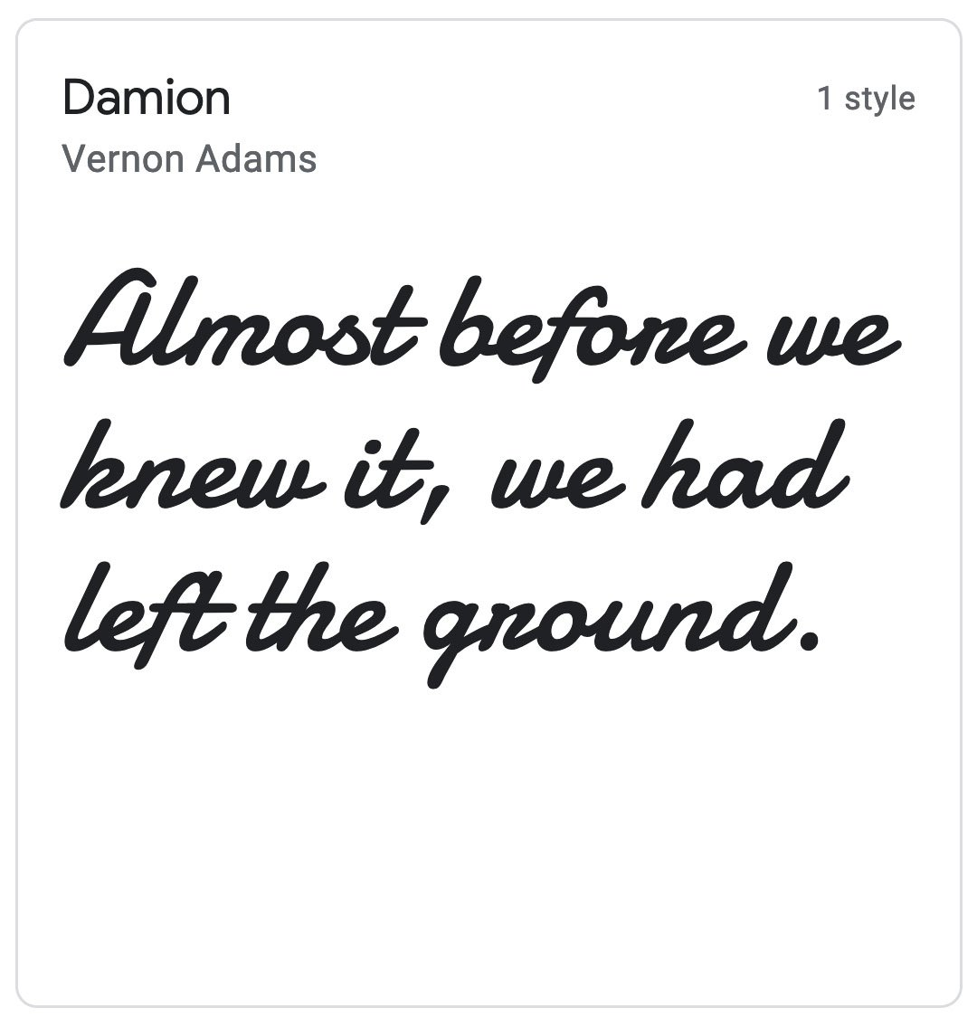 Enfold Fonts Damion