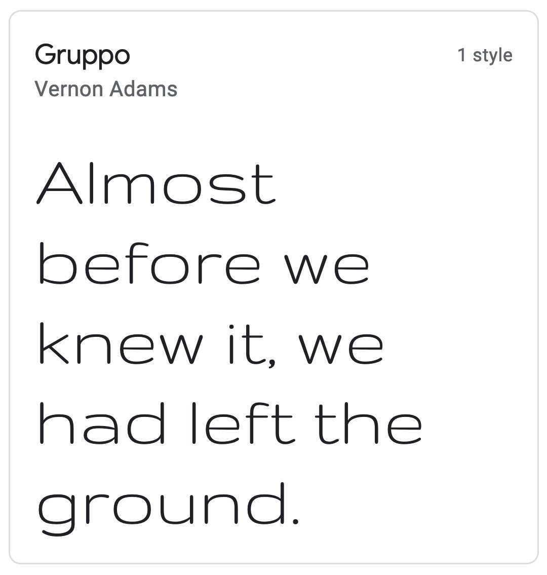 Enfold Fonts Gruppo