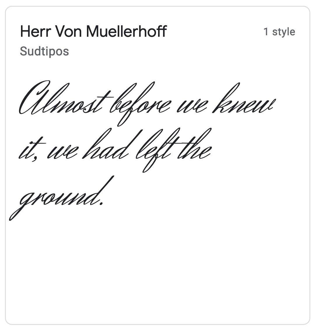 Enfold Fonts Herr Von Muellerhoff
