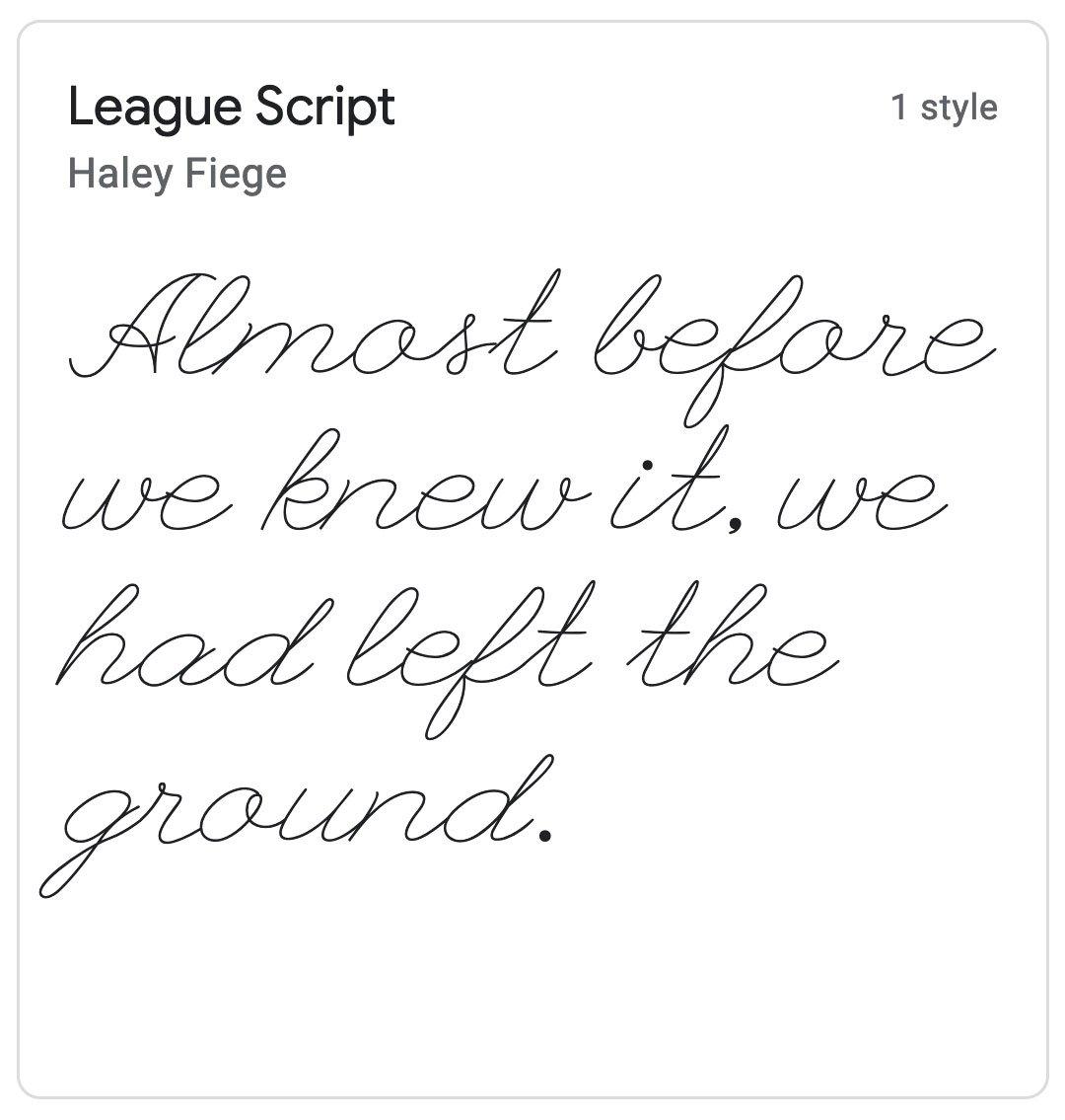 Enfold Fonts League Script