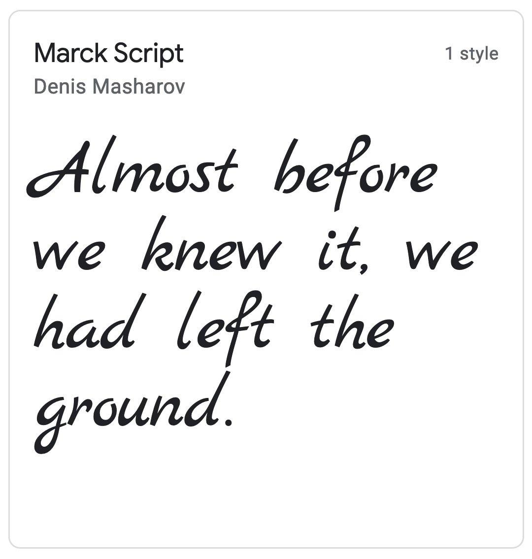 Enfold Fonts Marck Script