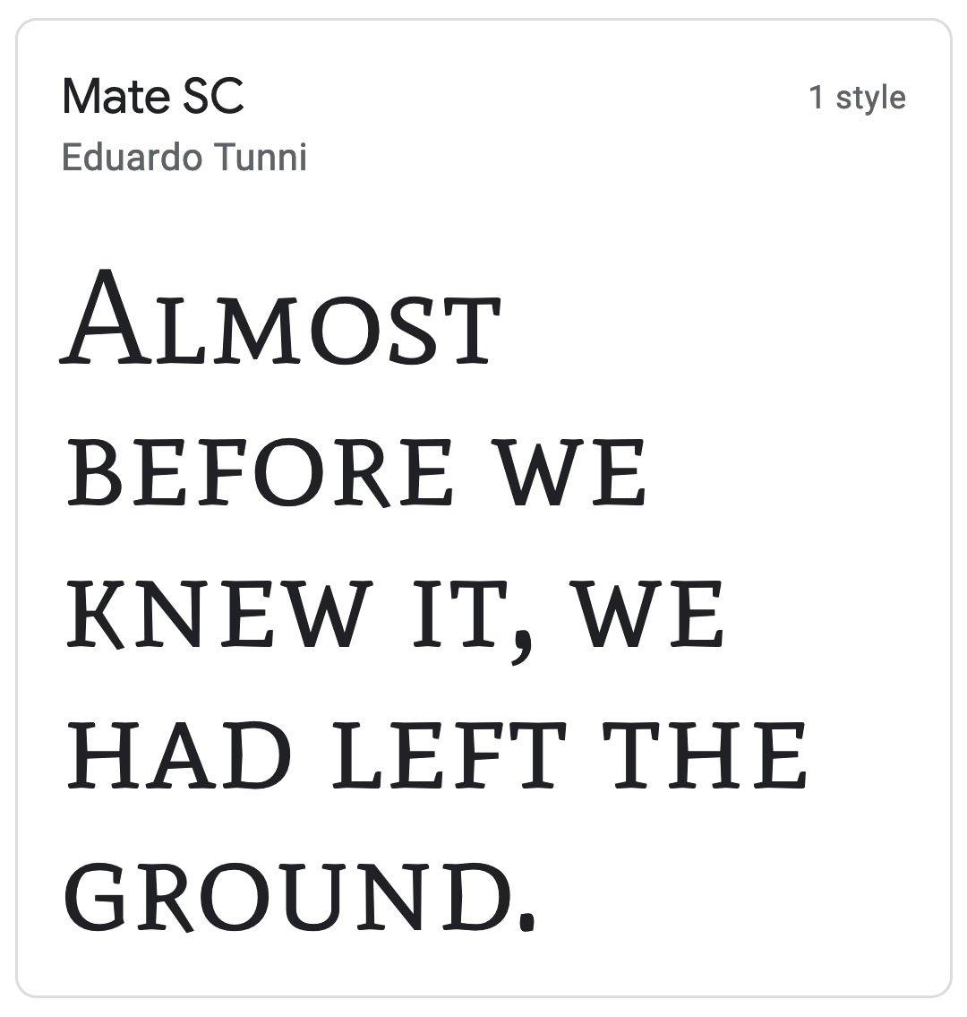 Enfold Fonts Mate SC