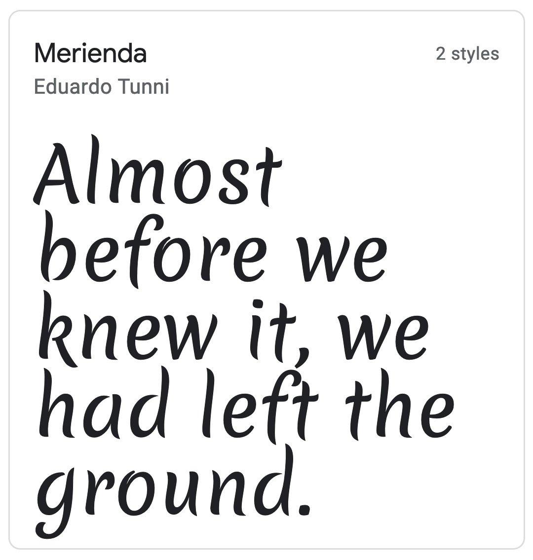 Enfold Fonts Merienda