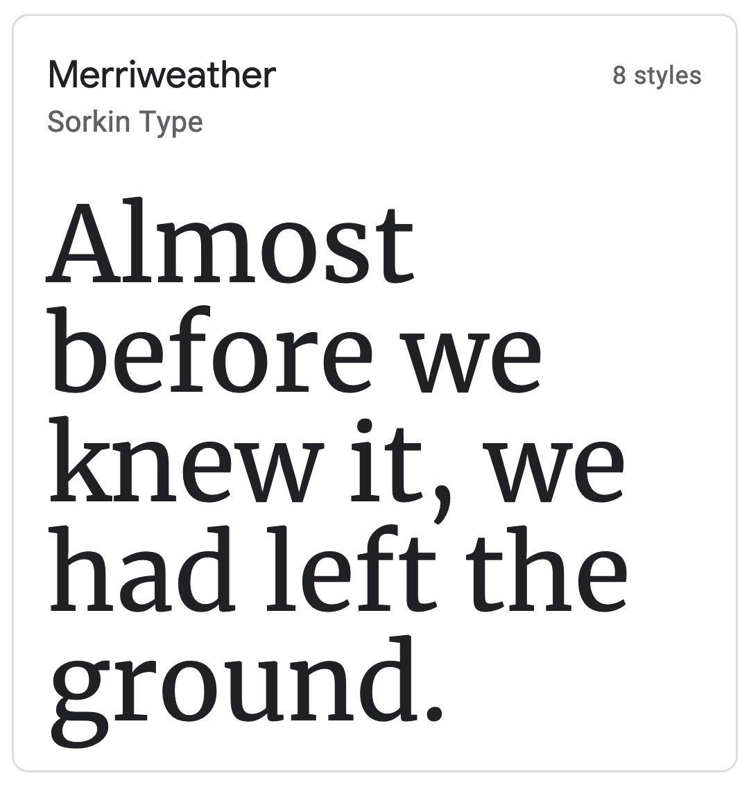 Enfold Fonts Merriweather