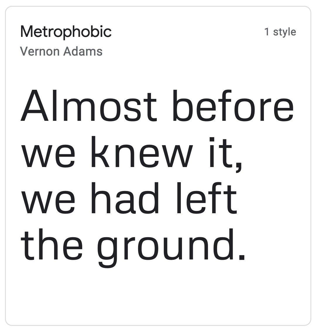 Enfold Fonts Metrophobic