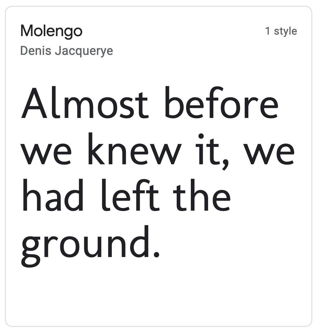 Enfold Fonts Molengo