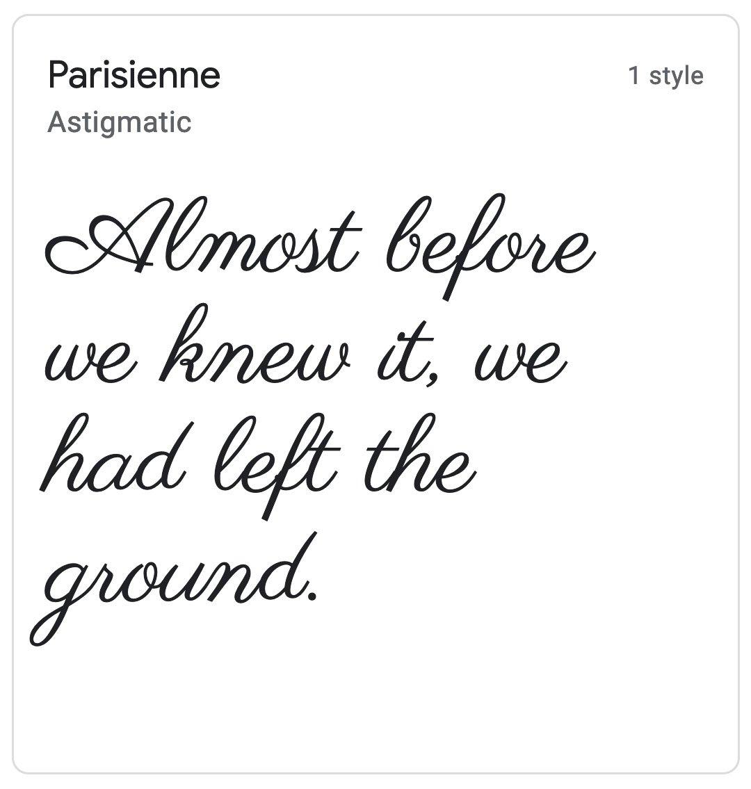 Enfold Fonts Parisienne