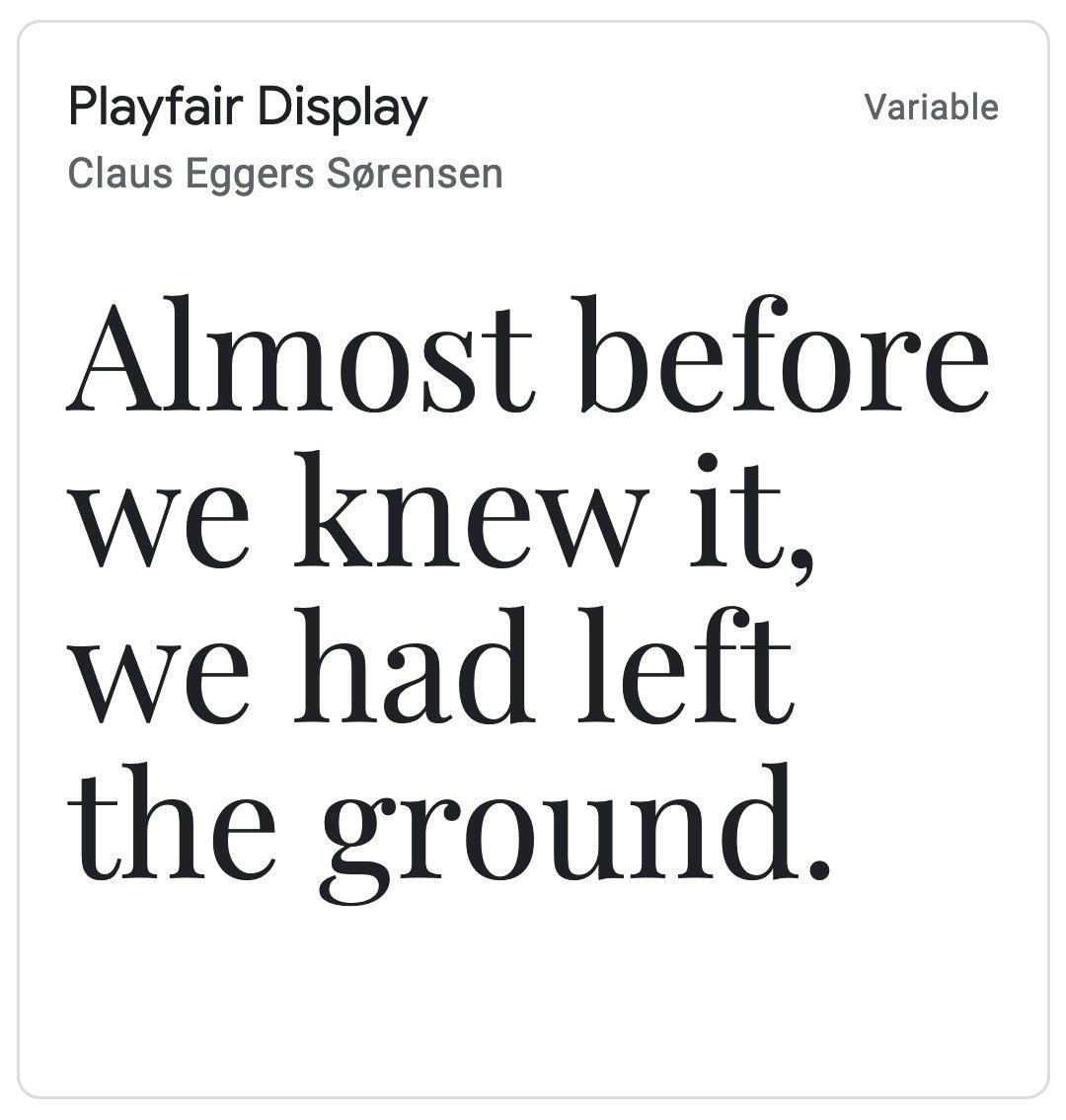 Enfold Fonts Playfair Display