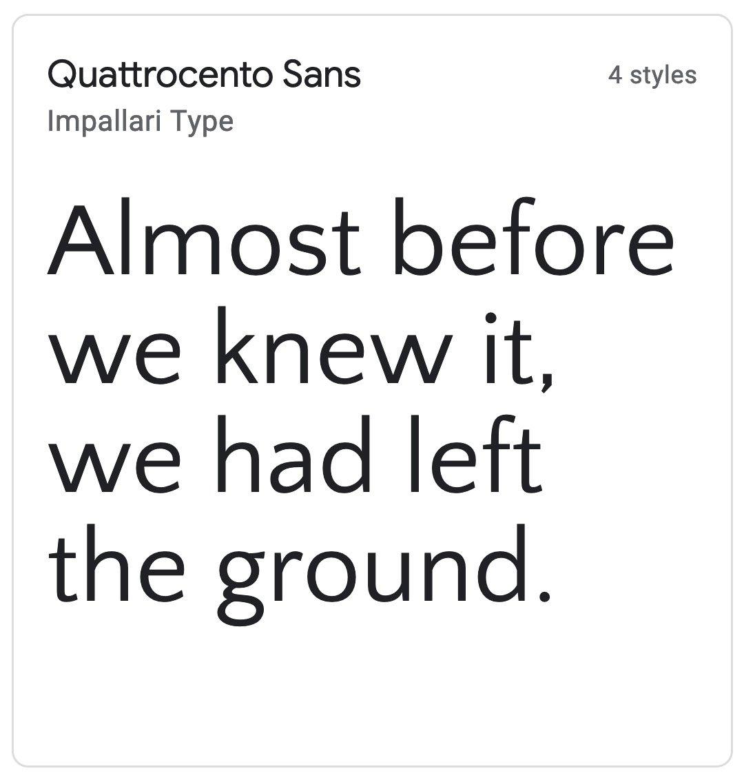 Enfold Fonts Quattrocento Sans