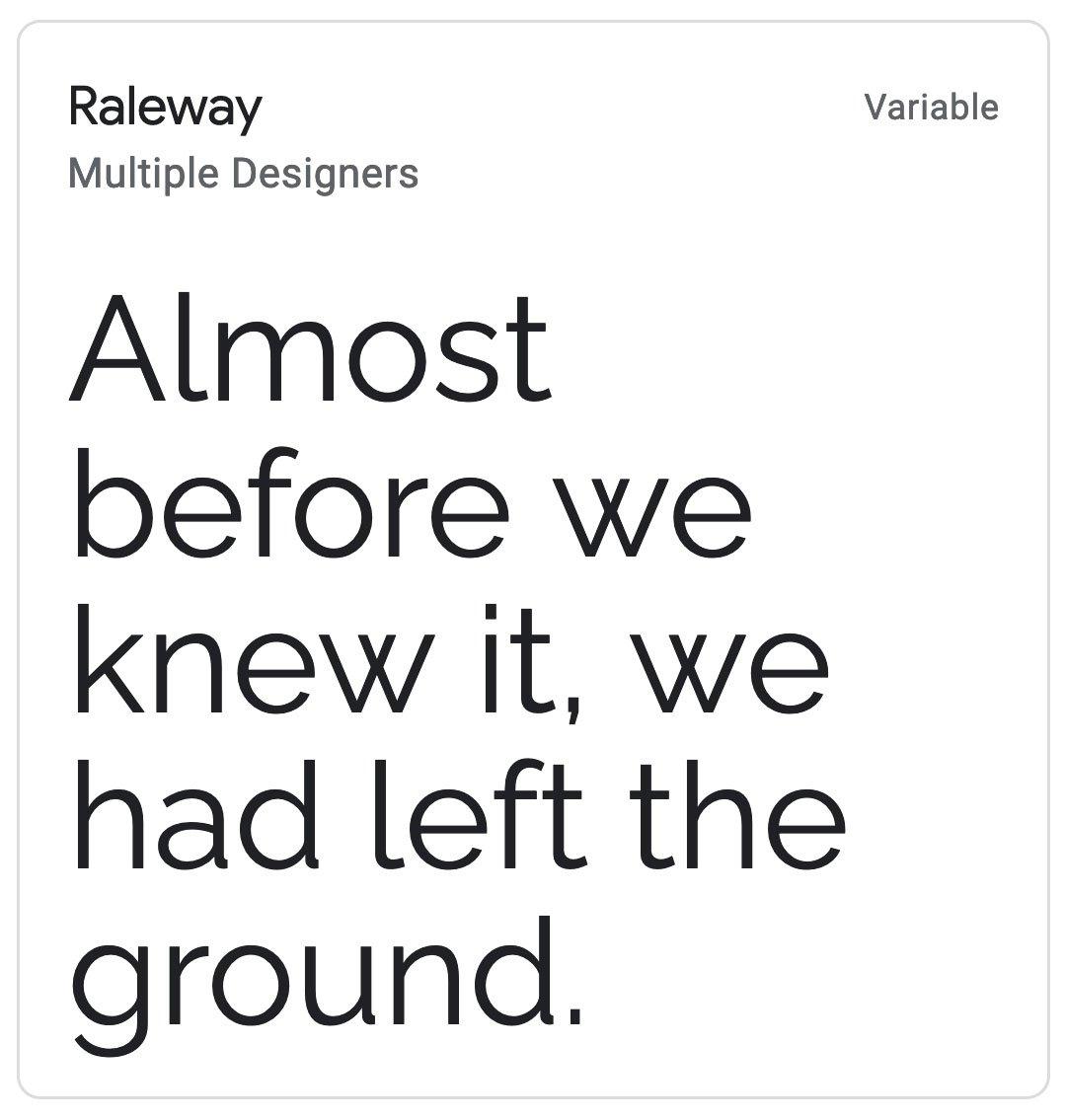 Enfold Fonts Raleway