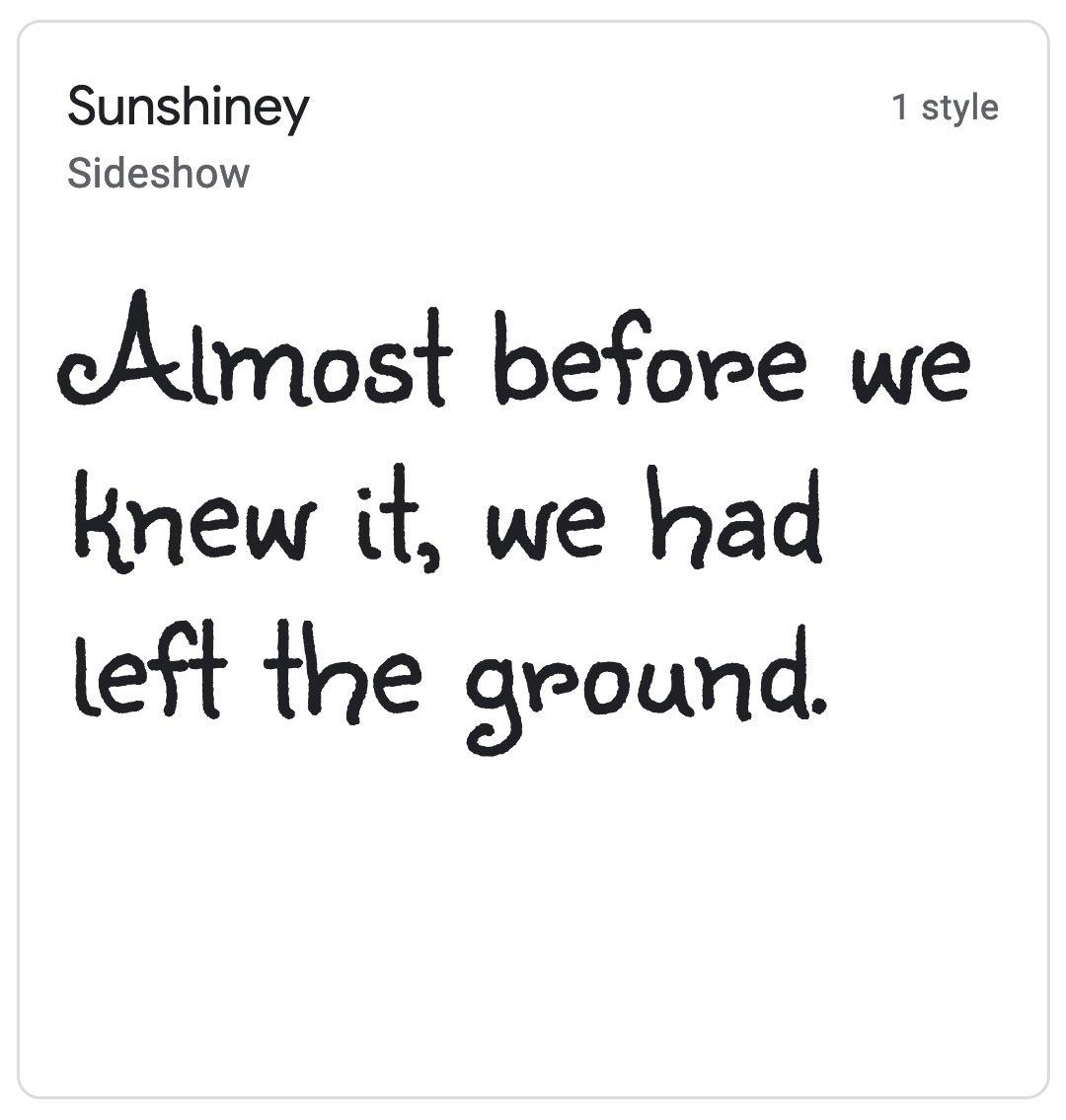 Enfold Fonts Sunshiney