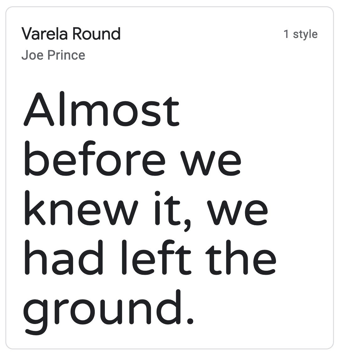 Enfold Fonts Varela Round