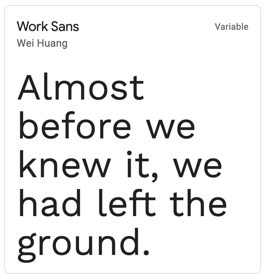 Enfold Fonts Work Sans